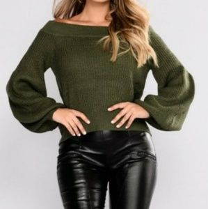 Olive Sweater NWT